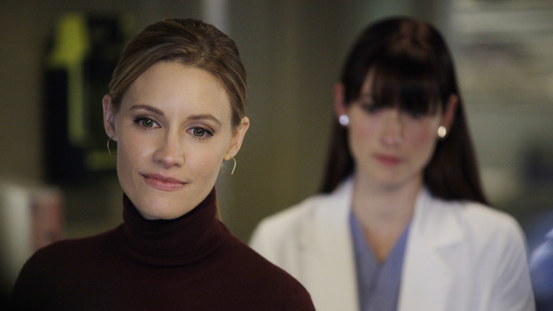 "PRIVATE PRACTICE - ""You Break My Heart"" - Cooper and Charlotte take Erica to Seattle Grace to meet with Derek, Lexie and Amelia regarding a very risky surgery; Scott tells Violet that he would like to take their relationship to the next level; and Addison finds herself caught in the middle of Sam and Jake's fight about a patient.  Meanwhile, Sheldon warns Sam to be cautious as he deals with the return of his sister, Corinne, on Private Practice, THURSDAY, FEBRUARY 16 (10:02-11:00 p.m., ET) on the ABC Television Network.  (ABC/KELSEY MCNEAL)KADEE STRICKLAND, CHYLER LEIGH"