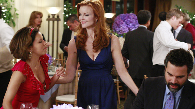 "DESPERATE HOUSEWIVES - ""We're So Happy You're Happy"" - Bree 'politely' asks for a moment of Gaby's time. Uh-oh!"