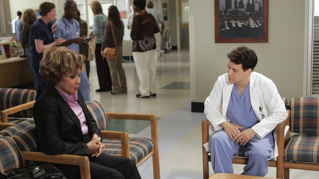 GREY'S ANATOMY - &quot;Love/Addiction&quot; - The residents and interns treat the victims of a massive explosion at an apartment building, while Alex investigates the cause of the accident, Mama Burke returns to collect her son's things just as Cristina trades her wedding presents in exchange for surgeries, Lexie tries to have a heart-to-heart with an unwilling Meredith, and while Callie is overwhelmed with her duties as Chief Resident, Bailey searches for an outlet for her pent-up leadership skills, on &quot;Grey's Anatomy,&quot; THURSDAY, OCTOBER 4 (9:00-10:01 p.m., ET) on the ABC Television Network. (ABC/CRAIG SJODIN)DIAHANN CARROLL, T.R. KNIGHT