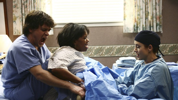 GREY'S ANATOMY - &quot;It's the End of the World (As We Know It)&quot; (ABC/SCOTT GARFIELD)T.R. KNIGHT, CHANDRA WILSON, KATE WALSH