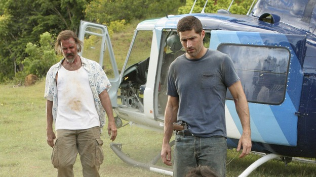 "LOST - ""The Economist"" - Locke's hostage may be the key to getting off the island, so Sayid and Kate go in search of their fellow castaway in an attempt to negotiate a peaceful deal, on ""Lost,"" THURSDAY, FEBRUARY 14 (9:00-10:02 p.m., ET) on the ABC Television Network. (ABC/MARIO PEREZ)JEFF FAHEY, MATTHEW FOX, JEREMY DAVIES"