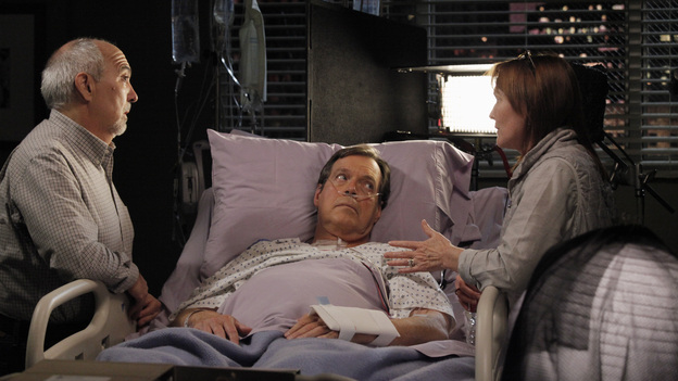 "GREY'S ANATOMY - ""I Was Made for Lovin' You"" - Cristina and Owen continue to figure out their relationship amidst the pending lawsuit; and Bailey argues with Ben over plans for their upcoming nuptials. Meanwhile, Callie recruits Jackson to help find a solution to Derek's hand, but he is preoccupied by a shocking situation with April, on ""Grey's Anatomy,"" THURSDAY, NOVEMBER 29 (9:00-10:02 p.m., ET) on the ABC Television Network. (ABC/RICHARD CARTWRIGHT)MIGUEL SANDOVAL, IVAR BROGGER, LAURA INNES (DIRECTOR)"