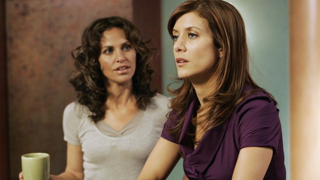 "PRIVATE PRACTICE - ""In Which We Meet Addison, A Nice Girl From Somewhere"" - At the invitation of her friend, fertility specialist Naomi Bennett, Addison leaves her job in Seattle and heads to Los Angeles to start a new job at Oceanside Wellness Group and to begin a new life. Not expecting Addison's arrival are Naomi's business partners at the co-op wellness center, her ex-husband, internist Sam Bennett, psychiatrist Violet Turner, pediatrician Cooper Freedman and alternative medicine guru Pete Wilder (who is convinced Addison is there because of their recent kiss). On her first day, Addison is presented a case that could make or break her acceptance among the Oceanside staff, on the premiere of ""Private Practice,"" WEDNESDAY, SEPTEMBER 26 (9:00-10:01 p.m., ET) on the ABC Television Network. (ABC/CRAIG SJODIN)AMY BRENNEMAN, KATE WALSH"