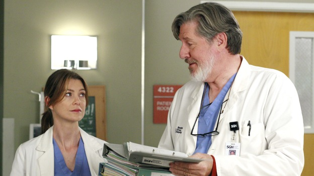 GREY'S ANATOMY - &quot;The Heart of the Matter&quot; - The Chief's wife, Adele, rushes their niece to Seattle Grace, the hospital where she once had her prom, Izzie reveals her feelings for George to a mutual friend, and the reaction is not what she expects, Derek teaches Cristina how to be a better teaching resident, and the world's oldest living intern, Norman, misdiagnoses one of Meredith's patients, on &quot;Grey's Anatomy,&quot; THURSDAY, OCTOBER 18 (9:00-10:02 p.m., ET) on the ABC Television Network. (ABC/RON TOM)ELLEN POMPEO, EDWARD HERMANN