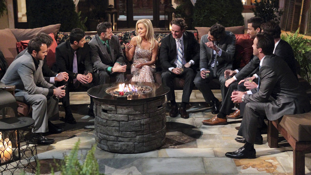"THE BACHELORETTE - On the premiere, ""Episode 801,"" Emily's journey begins in her hometown of Charlotte, North Carolina, where she lives with her six-year-old daughter, Ricki. After saying ""good night"" to Ricki, Emily arrives at a southern mansion where she meets her 25 potential soulmates who have traveled across the country. They include a biology teacher, a mushroom farmer, a marine biologist and a ex-professional football player. Emily is nervous, but her anxiety slips away and soon turns to laughter as a single dad produces a glass slipper and proclaims her a princess; a youthful entrepreneur swoops in on a skateboard; a party MC shows off his dance moves; and a southern gentleman brings something special that symbolizes his dedication to protecting her and Ricki. But although one man's grand entrance in a helicopter impresses Emily, it only makes him a target of jealousy and ridicule from the other bachelors, in the eighth edition of ""The Bachelorette,"" the female version of ABC's hit romance reality series, premiering MONDAY, MAY 14 (9:31-11:00 p.m., ET), on the ABC Television Network. (ABC/CRAIG SJODIN)JOHN, ALESSANDRO, ALEJANDRO, STEPHEN, EMILY MAYNARD, JOSEPH, ARIE, CHRIS, KALON (OBSCURED), KYLE"