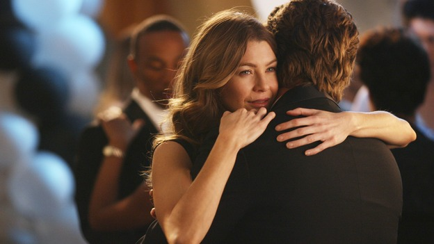 GREY'S ANATOMY - In the first hour of part two of the season finale of ABC's &quot;Grey's Anatomy&quot; -- &quot;Deterioration of the Fight or Flight Response&quot; -- Izzie and George attend to Denny as the pressure increases to find him a new heart, Cristina suddenly finds herself in charge of an ER, and Derek grapples with the realization that the life of a friend is in his hands. In the second hour, &quot;Losing My Religion,&quot; Richard goes into interrogation mode about a patient's condition, Callie confronts George about his feelings for her, and Meredith and Derek meet about Doc. Part two of the season finale of &quot;Grey's Anatomy&quot; airs MONDAY, MAY 15 (9:00-11:00 p.m., ET) on the ABC Television Network. (ABC/SCOTT GARFIELD)ELLEN POMPEO, CHRIS O'DONNELL