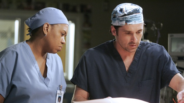 "GREY'S ANATOMY - ""Don't Stand So Close to Me"" - Recent events strain Burke and Cristina's relationship, Meredith's half-sister, Molly, is admitted to the hospital, and Mark and Derek must work together when two close-knit brothers seek medical help, on ""Grey's Anatomy,"" THURSDAY, NOVEMBER 30 (9:00-10:01 p.m., ET) on the ABC Television Network. (ABC/VIVIAN ZINK)CHANDRA WILSON, PATRICK DEMPSEY"