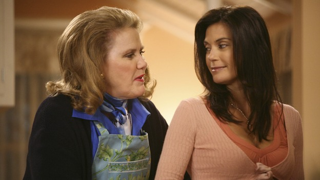 "DESPERATE HOUSEWIVES - ""Mother Said"" - Adele Delfino, Susan's mother-in-law, arrives for a visit, on Desperate Housewives,"" SUNDAY, MAY 11 (9:00-10:02 p.m., ET) on the ABC Television Network.  (ABC/DANNY FELD) CELIA WESTON, TERI HATCHER"