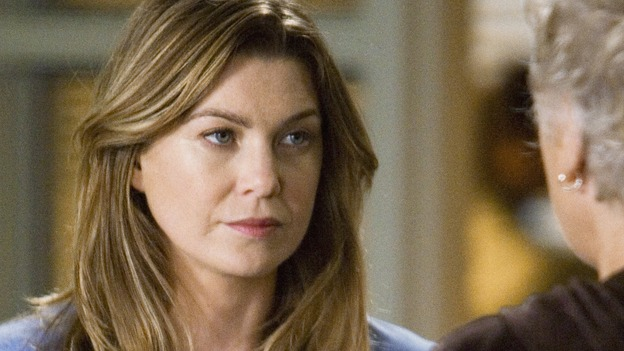 GREY'S ANATOMY - &quot;Sympathy for the Devil&quot; - Meredith meets Derek's mother, Carolyn, and confesses that she's not the kind of girl moms usually like, on &quot;Grey's Anatomy,&quot; THURSDAY, JANUARY 15 (9:00-10:01 p.m., ET) on the ABC Television Network. (ABC/RANDY HOLMES) ELLEN POMPEO, TYNE DALY
