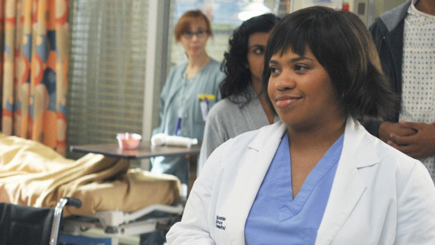 "GREY'S ANATOMY - ""There's No 'I' in Team"" - Bailey heads up a team of surgeons performing a ""domino procedure"" in which each surgery hinges on the one preceding it, on ""Grey's Anatomy,"" THURSDAY, OCTOBER 23 (9:00-10:01 p.m., ET) on the ABC Television Network.  (ABC/ERIC MCCANDLESS) CHANDRA WILSON"