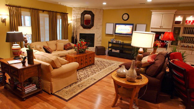 "EXTREME MAKEOVER HOME EDITION - ""Harris Family,"" - Living Room, on ""Extreme Makeover Home Edition,"" Sunday, May 6th on the ABC Television Network."