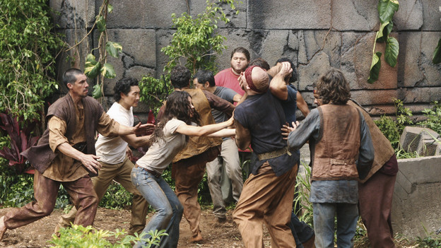 "LOST - ""What Kate Does"" - Kate finds herself on the run, while Jack is tasked with something that could endanger a friend's life, on ""Lost,"" TUESDAY, FEBRUARY 9 (9:00-10:00 p.m., ET) on the ABC Television Network. (ABC/MARIO PEREZ)DANIEL DAE KIM, EVANGELINE LILLY, KEN LEUNG, JORGE GARCIA, MATTHEW FOX (OBSCURED), JOHN HAWKES, HIROUKI SANADA"