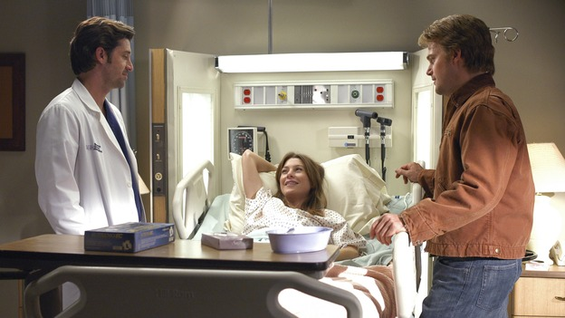 "GREY'S ANATOMY - ""What I Am"" - Addison doubts her abilities as a doctor, Cristina pushes Burke's rehabilitation, one of the interns suffers their own medical emergency, and Izzie receives the surprise of her life, on ""Grey's Anatomy,"" THURSDAY, OCTOBER 12 (9:00-10:01 p.m., ET) on the ABC Television Network. (ABC/GALE ADLER)PATRICK DEMPSEY, ELLEN POMPEO, CHRIS O'DONNELL"