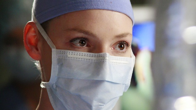 "GREY'S ANATOMY - ""Scars and Souvenirs"" - The race for chief heats up after a new competitor enters the fray, tensions escalate between Izzie and George, and Callie must reveal a big secret. Meanwhile, Derek treats a patient near and dear to him, while Alex continues his work with Jane Doe, on ""Grey's Anatomy,"" THURSDAY, MARCH 15 (9:00-10:01 p.m., ET) on the ABC Television Network. (ABC/RON TOM)KATHERINE HEIGL"
