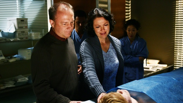"GREY'S ANATOMY - ""Yesterday"" - (ABC/SCOTT GARFIELD)DAVID GRANT WRIGHT, JUSTIN CHAMBERS, DEBORAH GEFFNER, SANDRA OH, JESSE PLEMONS"