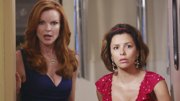 "DESPERATE HOUSEWIVES - ""We're So Happy You're Happy"" - Gaby and Bree look on in shock at the dinner party."