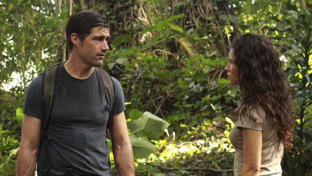 "LOST - ""The Candidate"" - Jack must decide whether or not to trust Locke after he is asked to follow through on a difficult task, on ""Lost,"" TUESDAY, MAY 4 (9:00-10:02 p.m., ET) on the ABC Television Network. (ABC/MARIO PEREZ) MATTHEW FOX, EVANGELINE LILLY"