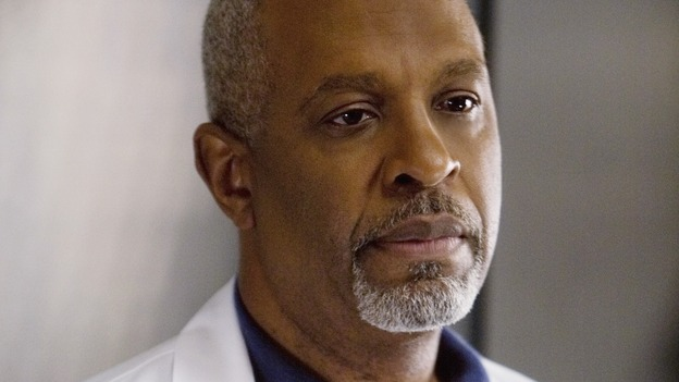 "GREY'S ANATOMY - ""Elevator Love Letter"" - The Chief guards the elevators, on ""Grey's Anatomy,"" THURSDAY, MARCH 26 (9:00-10:02 p.m., ET) on the ABC Television Network. (ABC/RANDY HOLMES) JAMES PICKENS JR."