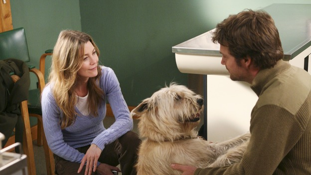 "GREY'S ANATOMY - ""Blues for Sister Someone"" - Izzie grills George about the personal details of his life, Addison takes Alex to task about a sensitive case, and Burke feels the pressure when he treats his musical hero, on ""Grey's Anatomy,"" SUNDAY, APRIL 30 (10:00-11:00 p.m., ET) on the ABC Television Network. (ABC/RICHARD CARTWRIGHT)ELLEN POMPEO, CHRIS O'DONNELL"