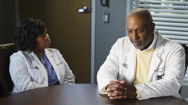 "GREY'S ANATOMY - ""I Will Follow You into the Dark"" - Bailey and the Chief argue about her future, on ""Grey's Anatomy,"" THURSDAY, MARCH 12 (9:00-10:02 p.m., ET) on the ABC Television Network. (ABC/CRAIG SJODIN) CHANDRA WILSON, JAMES PICKENS JR."