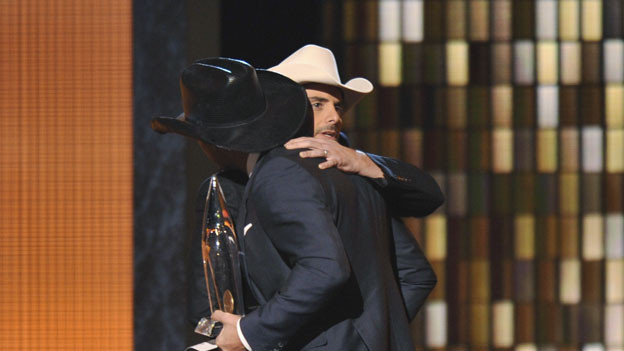 "THE 44TH ANNUAL CMA AWARDS - THEATRE - ""The 44th Annual CMA Awards"" were broadcast live from the Bridgestone Arena in Nashville, WEDNESDAY, NOVEMBER 10 (8:00-11:00 p.m., ET) on the ABC Television Network. (ABC/KATHERINE BOMBOY)TIM MCGRAW, BRAD PAISLEY"