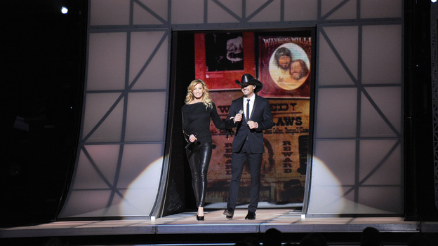 THE 46TH ANNUAL CMA AWARDS - THEATRE - &quot;The 46th Annual CMA Awards&quot; airs live THURSDAY, NOVEMBER 1 (8:00-11:00 p.m., ET) on ABC live from the Bridgestone Arena in Nashville, Tennessee. (ABC/KATHERINE BOMBOY-THORNTON)FAITH HILL, TIM MCGRAW