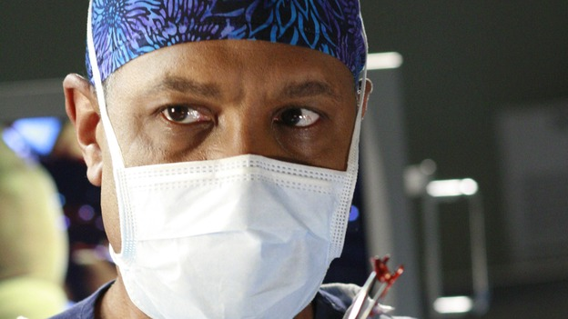"GREY'S ANATOMY - ""Scars and Souvenirs"" - The race for chief heats up after a new competitor enters the fray, tensions escalate between Izzie and George, and Callie must reveal a big secret. Meanwhile, Derek treats a patient near and dear to him, while Alex continues his work with Jane Doe, on ""Grey's Anatomy,"" THURSDAY, MARCH 15 (9:00-10:01 p.m., ET) on the ABC Television Network. (ABC/RON TOM)JAMES PICKENS, JR."