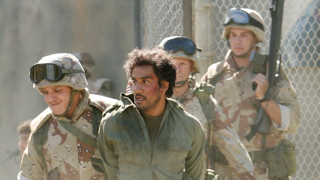 "LOST - ""One of Them"" - When Rousseau leads Sayid to a mysterious captive in the jungle, he becomes determined to find out if he is one of the ""Others."" Meanwhile, Sawyer discovers Hurley's potentially devastating breech of the survivors' trust and blackmails him into helping track an elusive island creature that won't leave Sawyer alone, on ""Lost,"" WEDNESDAY, FEBRUARY 15 (9:00-10:03 p.m., ET), on the ABC Television Network. (ABC/MARIO PEREZ)NAVEEN ANDREWS"