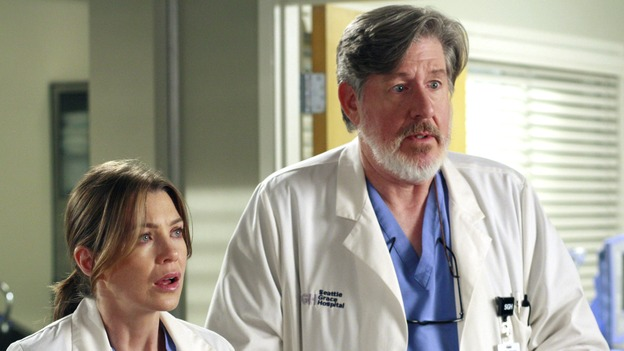 "GREY'S ANATOMY - ""The Heart of the Matter"" - The Chief's wife, Adele, rushes their niece to Seattle Grace, the hospital where she once had her prom, Izzie reveals her feelings for George to a mutual friend, and the reaction is not what she expects, Derek teaches Cristina how to be a better teaching resident, and the world's oldest living intern, Norman, misdiagnoses one of Meredith's patients, on ""Grey's Anatomy,"" THURSDAY, OCTOBER 18 (9:00-10:02 p.m., ET) on the ABC Television Network. (ABC/RON TOM)ELLEN POMPEO, EDWARD HERMANN"
