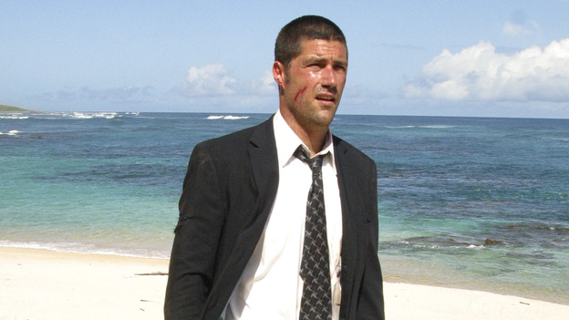 Matthew Fox as Jack in the LOST pilot