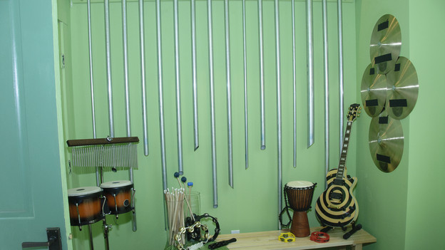 "EXTREME MAKEOVER HOME EDITION - ""Lutz Family,"" - Music Room Pictures, on ""Extreme Makeover Home Edition,"" Sunday, October 3rd(8:00-9:00 p.m. ET/PT) on the ABC Television Network."