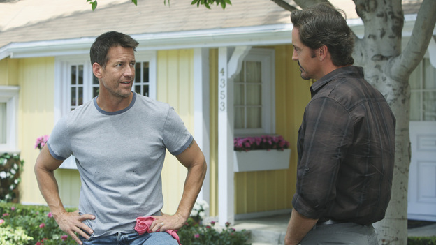 A Job Offer New neighbor Ben Faulkner is impressed when Mike fixes his busted pipe at no charge. The first guy he called tried to rip him off big time. That's probably why Ben offers the trustworthy Mike a job on a real estate venture he has brewing. A background check reveals Mike's past time in jail. He thinks it cost him the job. But Ben knows the details behind the crime and assures Mike that he could still use a guy like him.