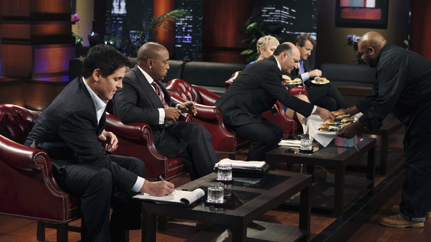 "SHARK TANK -""Episode 205"" - ABC will air a special sneak preview episode of Season Two of its hit reality series, ""Shark Tank,"" SUNDAY, MARCH 20 (9:00-10:00 p.m., ET). In the preview, ""Episode 205,"" the Sharks are stunned to discover the shark-like exploits of a sweet-faced sister duo with a children's dance company; a chef from Tennessee hopes to whet the Sharks' appetites with his delectable seafood products; and a winemaker from Oregon believes he has a game-changing new product that will revolutionize the wine industry. Also, an entrepreneur with a line of men's accessories has his hopes set on partnering with Daymond John - but his big mouth infuriates this Shark and could jeopardize the entire deal. (ABC/CRAIG SJODIN)MARK CUBAN, DAYMOND JOHN, BARBARA CORCORAN (OBSCURED), KEVIN O'LEARY, ROBERT HERJAVEC, SHAWN DAVIS (CBS FOODS)"