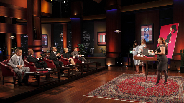 SHARK TANK - &quot;Episode 207&quot; -- A fiery entrepreneur from Washington, DC comes to the Shark Tank with her line of luxury maternity gowns; a Southern belle from South Carolina believes her homemade cakes will be the best the Sharks have ever tasted; and a couple from Minnesota believe their business idea of a cooler fitting inside a golf bag is a sure-fire way to save money on the golf course. Also, the Sharks fight over a product invented by a stay-at-home dad inspired by his long days cleaning up after his kids, and there will be a follow-up on the duo behind Grease Monkey Wipes -- whose impassioned plea in Season 1 landed them a deal with Robert and Barbara -- on &quot;Shark Tank,&quot; FRIDAY, APRIL 29 (8:00-9:00 p.m., ET). (ABC/CRAIG SJODIN)KEVIN HARRINGTON, DAYMOND JOHN, KEVIN O'LEARY, BARBARA CORCORAN, ROBERT HERJAVEC, DEIDREA HAYSEL (HOT MAMA GOWNS)