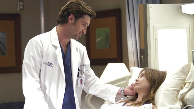 "GREY'S ANATOMY - ""What I Am"" - Addison doubts her abilities as a doctor, Cristina pushes Burke's rehabilitation, one of the interns suffers their own medical emergency, and Izzie receives the surprise of her life, on ""Grey's Anatomy,"" THURSDAY, OCTOBER 12 (9:00-10:01 p.m., ET) on the ABC Television Network. (ABC/GALE ADLER)PATRICK DEMPSEY, ELLEN POMPEO"