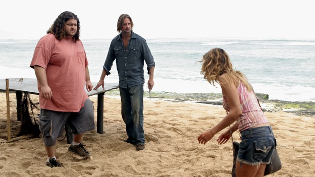 "LOST - ""Expos"" - Hurley begins to suspect that Sawyer may be involved in an island mystery surrounding two fellow survivors, and Sun learns the truth about her past kidnapping attempt by ""The Others,"" on ""Lost,"" WEDNESDAY, MARCH 28 (10:00-11:00 p.m., ET), on the ABC Television Network. (ABC/MARIO PEREZ)JORGE GARCIA, JOSH HOLLOWAY, KIELE SANCHEZ"