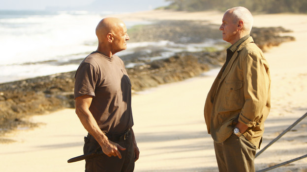 "LOST - ""The Package"" - Sun and Jin desperately continue their search for one another, and Locke confronts his enemy, on ""Lost,"" TUESDAY, MARCH 30 (9:00-10:02 p.m., ET) on the ABC Television Network. (ABC/MARIO PEREZ)TERRY O'QUINN, ALAN DALE"