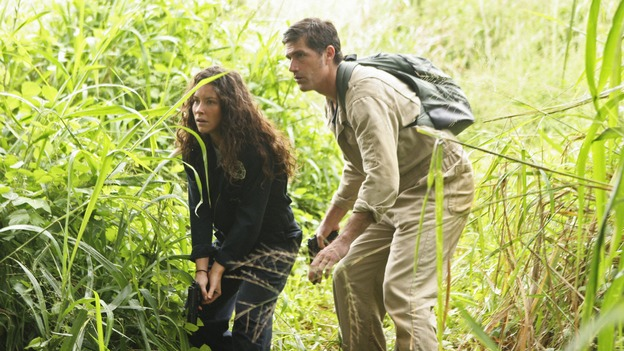 "LOST - ""Follow the Leader"" - Jack and Kate find themselves at odds over the direction to take to save their fellow island survivors, Locke further solidifies his stance as leader of ""The Others,"" and Sawyer and Juliet come under scrutiny from the Dharma Initiative, on ""Lost,"" WEDNESDAY, MAY 6 (9:00-10:02 p.m., ET) on the ABC Television Network.  (ABC/MARIO PEREZ)EVANGELINE LILLY, MATTHEW FOX"