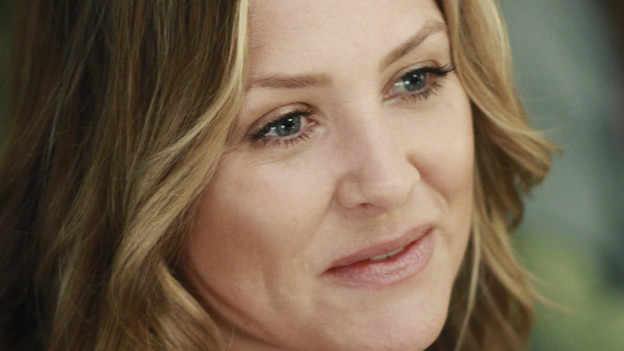 "GREY'S ANATOMY - ""Not Responsible"" - Meredith must choose between her fertility treatments and her eyesight when she begins having trouble seeing, Mark makes it clear to Callie and Arizona that he takes his role as father-to-be very seriously, and April discovers there's more to Dr. Stark than first appears, on ""Grey's Anatomy,"" THURSDAY, FEBRUARY 24 (9:00-10:01 p.m., ET) on the ABC Television Network. (ABC/RON TOM)JESSICA CAPSHAW"