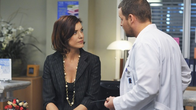 PRIVATE PRACTICE - &quot;Ex-Life&quot; - As Archer recoups from surgery, Derek has Addison work with his pregnant neuro patient; after Sam suffers a sudden asthma attack, Bailey and Naomi work together to find the root cause of Sam's sudden attack; and at Oceanside Wellness, Cooper, Violet and Pete work together to treat a mother suffering from postpartum depression, on &quot;Private Practice,&quot; THURSDAY, FEBRUARY 12 (10:02-11:00 p.m., ET) on the ABC Television Network. (ABC/ERIC MCCANDLESS)KATE WALSH, JUSTIN CHAMBERS