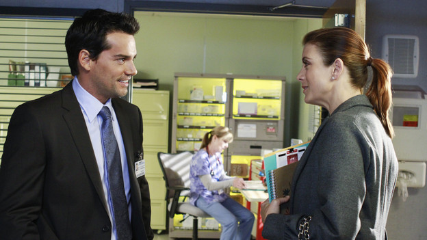 "PRIVATE PRACTICE - ""Heaven Can Wait"" - Addison plans Bizzy and Susan's wedding while trying to keep her distance from the overly flirtatious Dr. Rodriquez. Sam is concerned about the care his longtime patient is receiving, and Sheldon refers Charlotte to his mentor and friend for psychiatric help, on ""Private Practice,"" THURSDAY, JANUARY 13 (10:01-11:00 p.m., ET) on the ABC Television Network. (ABC/RON TOM)CRISTIAN DE LA FUENTE, KATE WALSH"