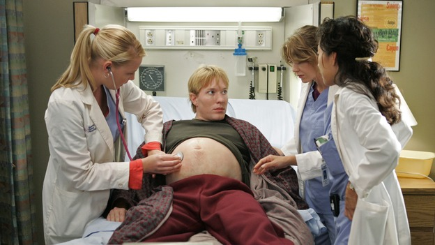 "GREY'S ANATOMY - ""Something to Talk About""(ABC/CRAIG SJODIN)KATHERINE HEIGL, JOE SIKORA, ELLEN POMPEO, SANDRA OH"