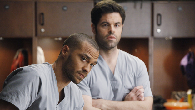 "GREY'S ANATOMY - ""If/Then"" - As Meredith puts Zola to bed and falls asleep, she begins to wonder -- what if her mother had never had Alzheimer's and she'd had loving, supportive parents? The reverberations of a happy Meredith Grey change the world of Seattle Grace as we know it. What if she had never met Derek in that bar and he had never separated from Addison? What if Callie and Owen had become a couple long before she met Arizona? And what if Bailey never evolved from the meek intern she once was? ""Grey's Anatomy"" airs THURSDAY, FEBRUARY 2 (9:00-10:02 p.m., ET) on the ABC Television Network. (ABC/VIVIAN ZINK)JESSE WILLIAMS, ROBERT BAKER"