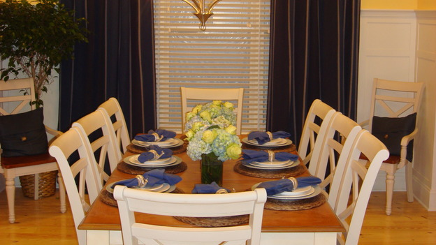 "EXTREME MAKEOVER HOME EDITION - ""Silva Family,"" - Dining Room, on ""Extreme Makeover Home Edition,"" Sunday, May 4th on the ABC Television Network."