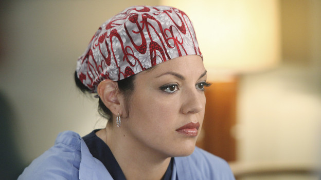 "GREY'S ANATOMY - ""Start Me Up"" - Arizona seeks Mark's advice as she tries to reconcile with Callie, who has big news of her own; Teddy must make a key decision for Henry during his surgery; and on the same day the residents receive a new crop of interns, the Chief announces he is looking for a new Chief Resident, on ""Grey's Anatomy,"" THURSDAY, JANUARY 13 (9:00-10:01 p.m., ET) on the ABC Television Network. (ABC/DANNY FELD)SARA RAMIREZ"