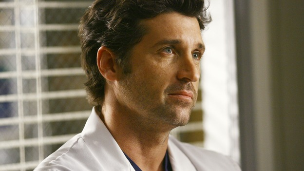 "GREY'S ANATOMY - ""Dream a Little Dream of Me"" - Dr. Derek Shepherd confronts Major Owen Hunt, on ""Grey's Anatomy,"" THURSDAY, SEPTEMBER 25 (9:00-11:00 p.m., ET) on the ABC Television Network. (ABC/SCOTT GARFIELD) PATRICK DEMPSEY"