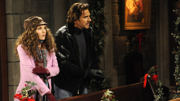 Thorsten Kaye as Zach Slater, Alicia Minshew as Kendall Hart All My Children