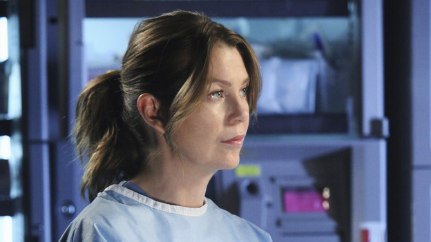 "GREY'S ANATOMY - ""Holidaze"" -- As Thanksgiving, Christmas and New Year's pass, Miranda is visited by her father, William, who disapproves of her choices in life; meanwhile, Mark and Lexie must cope with the shocking arrival of a woman from his past, and Thatcher Grey questions the Chief's recent behavior as Meredith comes to his defense, on ""Grey's Anatomy,"" THURSDAY, NOVEMBER 19 (9:00-10:01 p.m., ET) on the ABC Television Network. (ABC/DANNY FELD)ELLEN POMPEO"