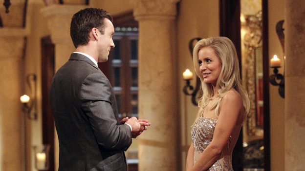 "THE BACHELORETTE - On the premiere, ""Episode 801,"" Emily's journey begins in her hometown of Charlotte, North Carolina, where she lives with her six-year-old daughter, Ricki. After saying ""good night"" to Ricki, Emily arrives at a southern mansion where she meets her 25 potential soulmates who have traveled across the country. They include a biology teacher, a mushroom farmer, a marine biologist and a ex-professional football player. Emily is nervous, but her anxiety slips away and soon turns to laughter as a single dad produces a glass slipper and proclaims her a princess; a youthful entrepreneur swoops in on a skateboard; a party MC shows off his dance moves; and a southern gentleman brings something special that symbolizes his dedication to protecting her and Ricki. But although one man's grand entrance in a helicopter impresses Emily, it only makes him a target of jealousy and ridicule from the other bachelors, in the eighth edition of ""The Bachelorette,"" the female version of ABC's hit romance reality series, premiering MONDAY, MAY 14 (9:31-11:00 p.m., ET), on the ABC Television Network. (ABC/CRAIG SJODIN)KYLE, EMILY MAYNARD"