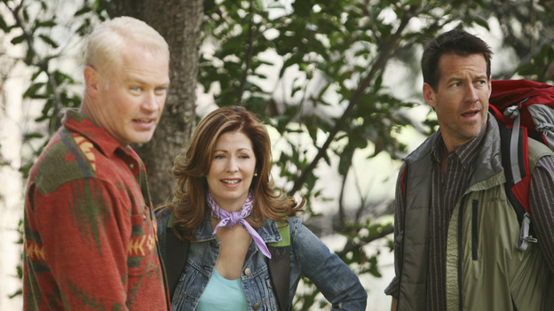 "DESPERATE HOUSEWIVES - ""A Spark. To Pierce the Dark."" - Dave, Katherine and Mike out in the wild."